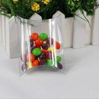 Wholesale clear PVC Pillow Shape Candy Boxes Wedding Favor Box Party Gift Box Paper Box