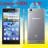 5.5 Android 2G New Arrival K900 Lenovo K900 Duel-core Intel Atom Z2580 2G 16G Android 4.2 5.5''IPS Wi-Fi USB GPS Dual Camera Free Shipping