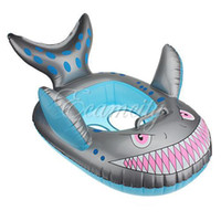 Accessories Character Plastic Wholesale Shark Shape Baby Child Infant Kids Inflatable Swimming Pool Seat Float Ring Grey Toy Free Shipping