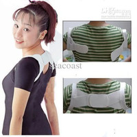 Back   400 pcs lot Posture Corrector Beauty Body Back Support Shoulder Brace Band Belt Correction