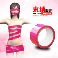 Wholesale Duct tape bondage BDSM binding tape adult sex games gadgets product sexy toys Funky BSDM Fetish Bondage Tape Roll Hen Stag Nights Party