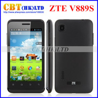 4.0 Android 1G Original ZTE V889S 4 Inch 800x540 MTK6577 Dual Core Mobile Phone Android 4.1 Black 512Mb 4GB Wifi GPS BT