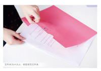 Wholesale Lovely polite smile L shape folder