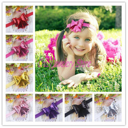Newborn Infant Headbands With Flash Bow Flower Kids Elastic Headband Baby Hair Accessories Newborn Bow Flower Hairbands Baby Girl Headwear
