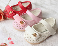Wholesale OUTLETS Bowknot girl baby shoes Breathable leather shoes DROP SHIPPING shoes shop shoes sale baby wear Casual shoes pairs WJ