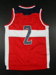 Wholesale Top Quality Revolution Men s Basketball Jerseys John Wall Red White Embroidery Logo Mix Order
