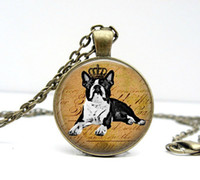 american terrier - 1PC Boston Terrier Necklace Glass Dome Pendant Picture Pendant Photo Pendant Handcrafted Jewelry