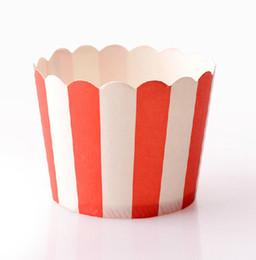 Red White Stripe Paper Muffin Cake Cup,Paper Baking Cup,Cupcake Paper Cups Dia:6cm