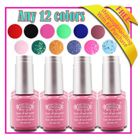 Wholesale Nail art DIY fashion color gel top coat nail polish colors ml soak off uv gel