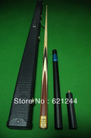 Wholesale One Piece Handmade Splices Ash Shaft Snooker Cue Pool Cue with Free Cue Case Mini Butt Longer Extension