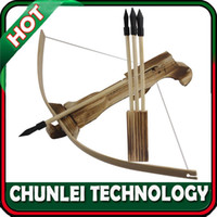 Wholesale Hunting W Arrow Quiver Wood Kid Children Youth Cross Bow Toy Gun Set Wooden Archery Crossbow