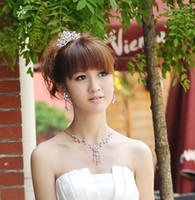 Wholesale Shining Wedding Bridal Crystal Veil Tiara Crown Headband Hair Ornaments Bridal Tiaras