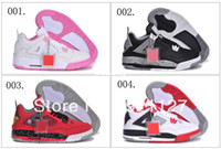 Wholesale 5 Colours Air Retro IV South Beach Oreo Fear Women s Lady Girl Basketball Sport Footwear Sneaker Trainers Shoes