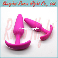 Wholesale Small Size Silicone Waterproof Anal Body Massager Anal Butt Plug Toys for Male amp Female Erotic Sexy Adult Product