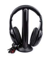 Wholesale Wireless Net Chat Headset in S XBS Hi Fi Wireless Headphone Earphone for Audio FM Radio MP3 Mp4 Player CD PC TV K0115A