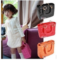 Wholesale EMS DHL Shipping Hot Selling Children Girls Multicolor Handbags PU Leather Vintage Grid Mini Bags For Baby Kids Princess Party Bag B3324