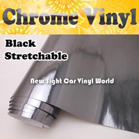 Wholesale High Quality Stretchable Black Chrome Vinyl Film Roll For Car Wrapping Air Free Bubble Size M Roll ft x ft
