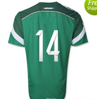 Wholesale top thailand quality Mexico Nation Brazil world cup home shirt jersey customede name and number green