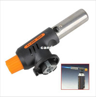 Wholesale 2014 Hot Sale New Gas Torch Butane Burner Auto Ignition Camping Welding Flamethrower BBQ Travel