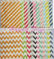 Cheap Via Fedex EMS, New Kraft Paper Bag Stripe Wave Polka Dots Flower Food Favor Paper Bag Birthday Party Gift Bag, 10000PCS