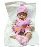 Unisex 3-4 Years Latex doll baby born chinese doll silicone reborn baby dolls,real baby size, 55cm, silicone+PP cotton, naive, best gift for kids