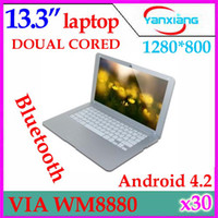 Wholesale 13 quot Inch Android Laptop Netbook Computer G GB WiFi Bluetooth HDMI ultra thin Netbook YX MID