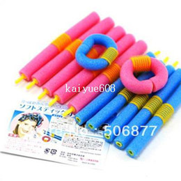Wholesale 24pcs DIY SOFT ANION EPE BENDY HAIR ROLLERS FOAM CURLERS For Fashion Sexy Women