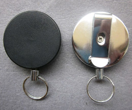 Wholesale Best price mm Metal Reels Retractable ID Card Holder Badge Black amp Silver