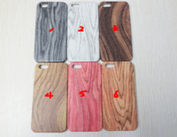 Wholesale Wood Pattern Wooden Hard Plastic Case Cover for iPhone S