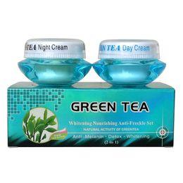 Green tea whitening Nourishing anti-freckle set natural activity greentea day cream+night cream