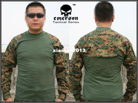 Camping & Hiking Men Full Emerson Tactical Combat shirt EMERSON Combat T-Shirt woodland MARPAT 8566