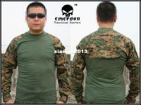 Camping & Hiking Men Full Emerson Tactical Combat shirt EMERSON Combat T-Shirt woodland MARPAT 8566