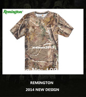Wholesale REMINGTON CAMO T Shirt for Men Hiking Camping Hunting Outdoor Hunting Clothes Quick drying T shirts M L XL XXL
