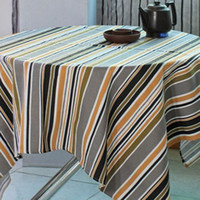Wholesale Wallpaper Canvas Table Ornament European Style Square Mix Colors Stripe Pattern Table Cloth jhey05