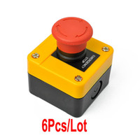 Wholesale 6pcs New Super Quality V Red Sign Emergency Stop Push Button Switch Dropshipping TK0344