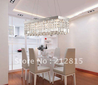 Contemporary 240V Incandescent Luxury restaurant chandeliers modern square living room lamps lighting crystal lamps bedroom lamps