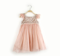 Elegant Girl's Party Dress New Girls Sequins Princess Childr...