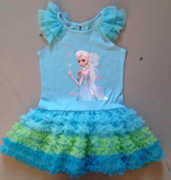 Pre- Sale Hot Frozen Children Clothing Girls Lace Gauze Short...