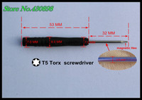 Wholesale 100pcs pack factory outlets Repair tool T5 Magnetic Screwdriver