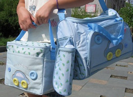 Wholesale 4 pieces set Mummy bag Car Baby Diaper bags bag Mummy bags Mother mama bag Nursery bags baby care bags