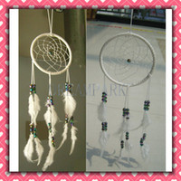 Wholesale New Korea Hot White Dreamcatcher Wind Chimes Indian Feather Pendant Dream Catcher Gift