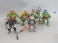 ninja turtles - 6pcs set Anime Pvc Toys TMNT Teenage Mutant Ninja Turtles Donatello cm Action Figure PVC