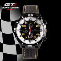 Casual Unisex Auto Date 2014 F1 Grand Touring GT Men Sport Quartz Watch Military Watches Army Japan PC Movement Wristwatch Fashion Men's Watches 100pcs utop2012