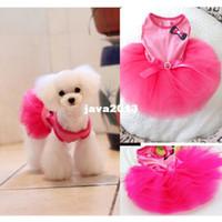 Бесплатная доставка собак Pet лук партии юбка Одежда Туту Layered платье принцессы Hot Pink FZ840-FZ841 FZ867-FZ868