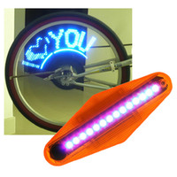 Wholesale New Blue LED Waterproof Cycling Bike Bicycle Wheel Tire Lights Lamps with Retail Packaging ps E1072