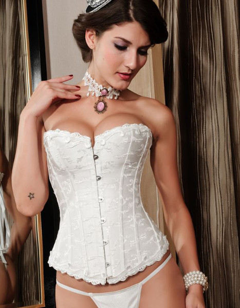 les plus chauds de marie sexy corset blanc et noir bustier lingerie fminine sous vtements - Sous Vetement Bustier Mariage