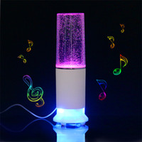 Wholesale Free fast shipping sets whole sale price led light lamp water dancing music speakers for computer mobile phone MP3 PC and CD player