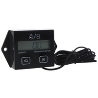 Wholesale Digital Engine Tach Tachometer Hour Meter Gauge Resettable Inductive for Racing Motorcycle Drop Shipping K934