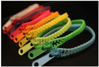 Wholesale Hot New Jewelry Link Bracelet Zip bracelet wristband candy bracelet Popular Zipper bracelet colorsfull