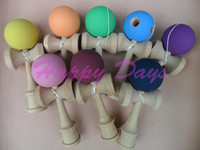 Wholesale Rubber Kendama Ball Japanese Traditional Wood Game Kids Toy Rubber Paint amp Beech